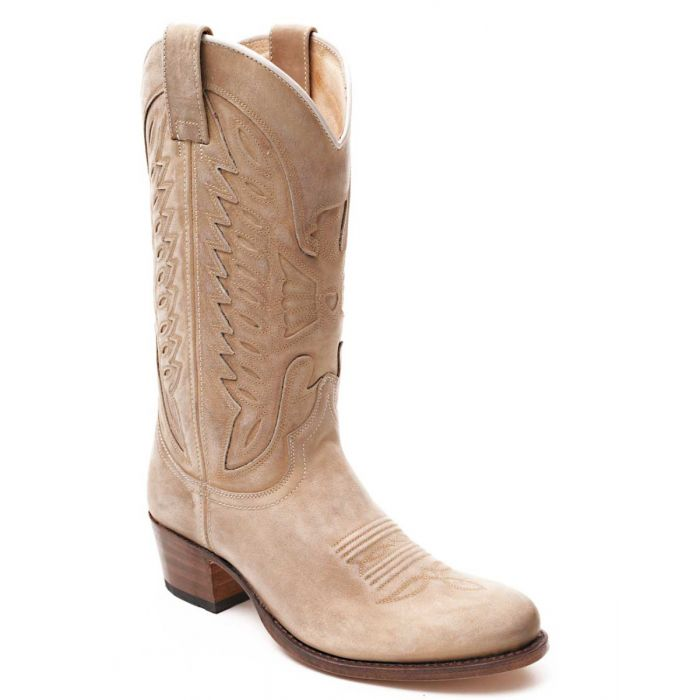 cuir beige Sendra western 8850 Boots bottes WIE9DYH2
