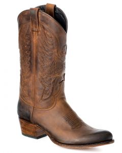 Sendra Boots Leder schwarz türkis