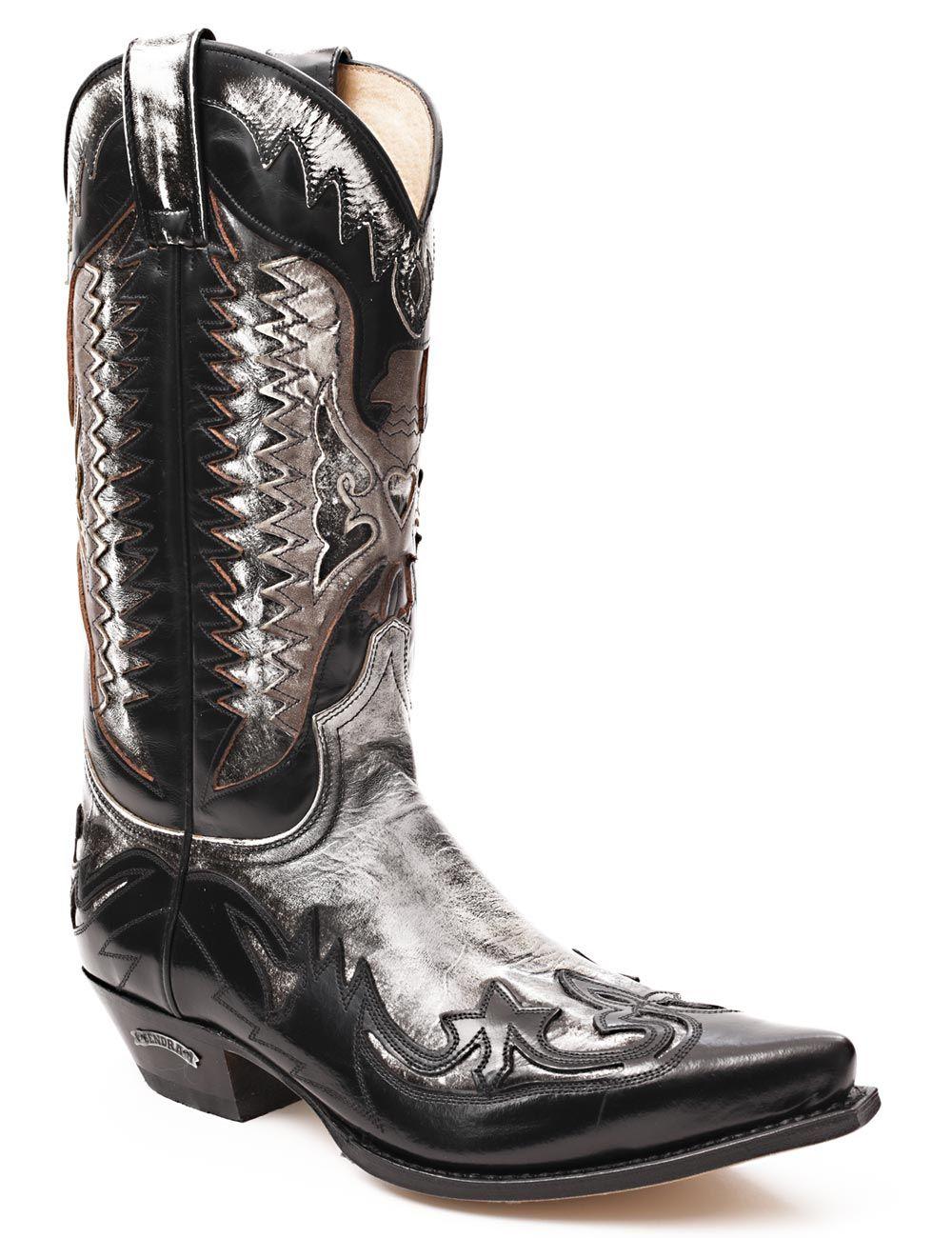 white cowboy boots Sendra